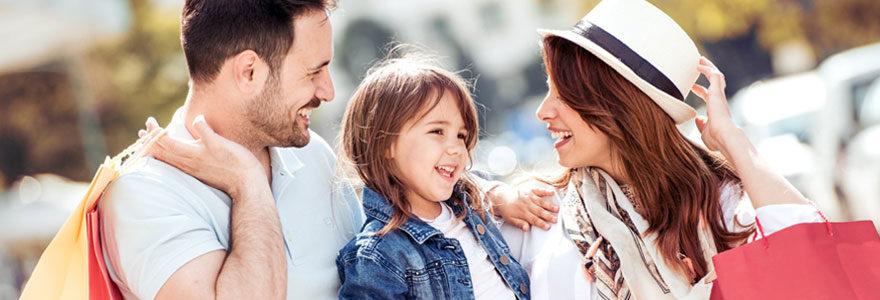 Profiter du shopping et des loisirs en famille