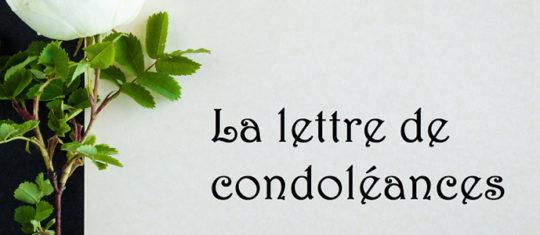 lettre de condoléances